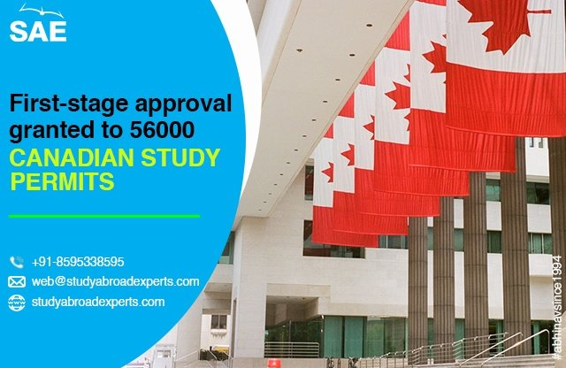 First-stage approval granted to 56000 Canadian study permits