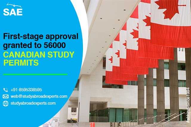 First stage approval granted to 56000 Canadian study permits