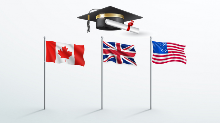 2021 shows rising demand to study abroad in Canada, UK & USA